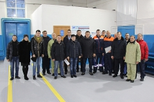 Solemn opening of serviced area of power workshop № 11 upon completion of modernization.